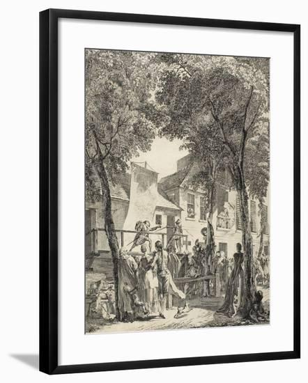 The Parade on the Boulevard, 1760-Antoine-Jean Duclos-Framed Giclee Print