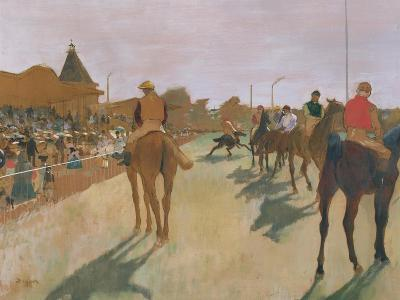 The Parade, or Race Horses in Front of the Stands, circa 1866-68-Edgar Degas-Giclee Print