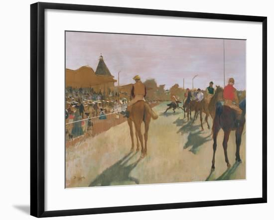The Parade, or Race Horses in Front of the Stands, circa 1866-68-Edgar Degas-Framed Giclee Print