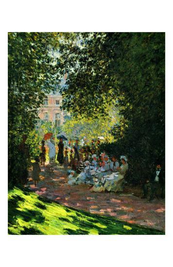 The Parc Monceau-Claude Monet-Giclee Print