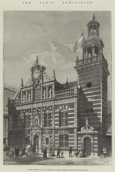 The Paris Exhibition, Dutch Building in the Avenue of Nations, Model of the Hague Townhall--Giclee Print