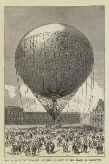The Paris Exhibition, the Monster Balloon in the Place De Carrousel--Giclee Print