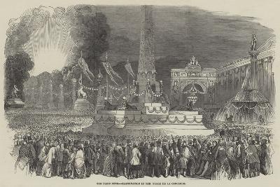 The Paris Fete, Illumination in the Place De La Concorde--Giclee Print