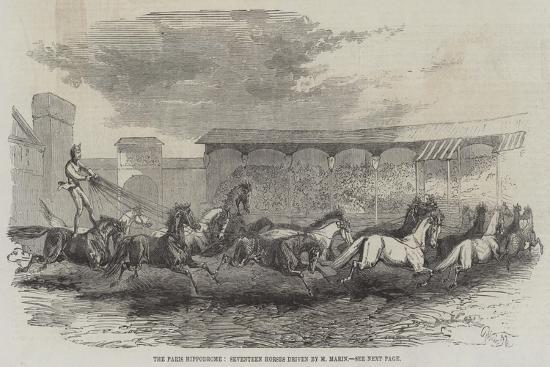 The Paris Hippodrome, Seventeen Horses Driven by M Martin-Harrison William Weir-Giclee Print