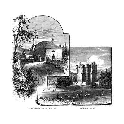 The Parish Church, Crathie, and Braemar Castle, Scotland, 1900--Giclee Print
