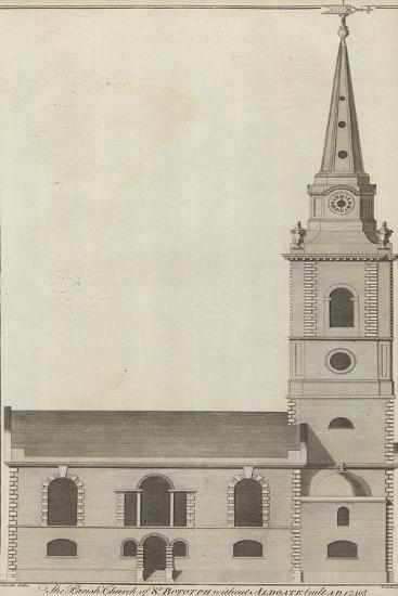 The Parish Church of St Botolph Without Aldgate, London--Giclee Print
