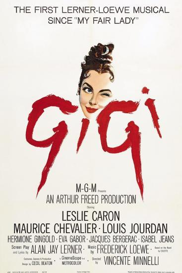 """The Parisians, 1958, """"Gigi"""" Directed by Vincente Minnelli--Giclee Print"""