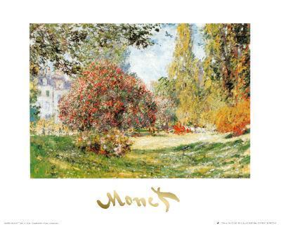 The Park at Monceau-Claude Monet-Art Print