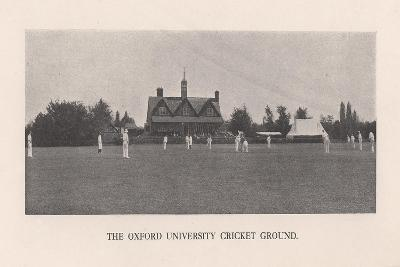 The Parks, cricket ground of Oxford University, 1912-Hills and Saunders-Giclee Print