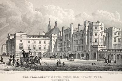The Parliament House from Old Palace Yard-Thomas Hosmer Shepherd-Giclee Print