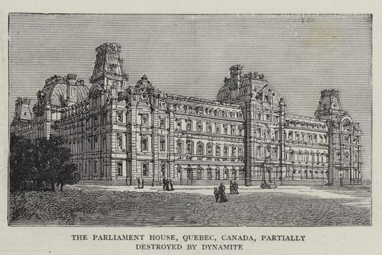 The Parliament House, Quebec, Canada, Partially Destroyed by Dynamite--Giclee Print