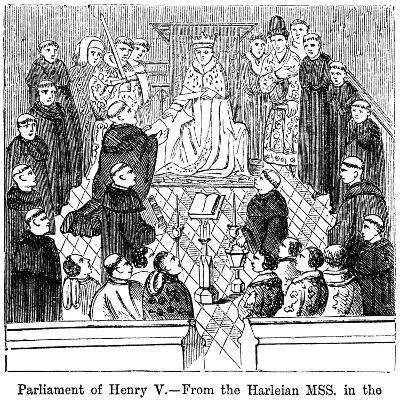 The Parliament of King Henry V (1387-142)--Giclee Print
