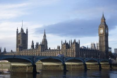 The Parliament Square and the Thames in London-Design Pics Inc-Photographic Print