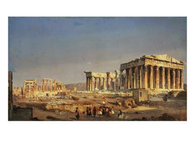 The Parthenon, 1863-Ippolito Caffi-Giclee Print