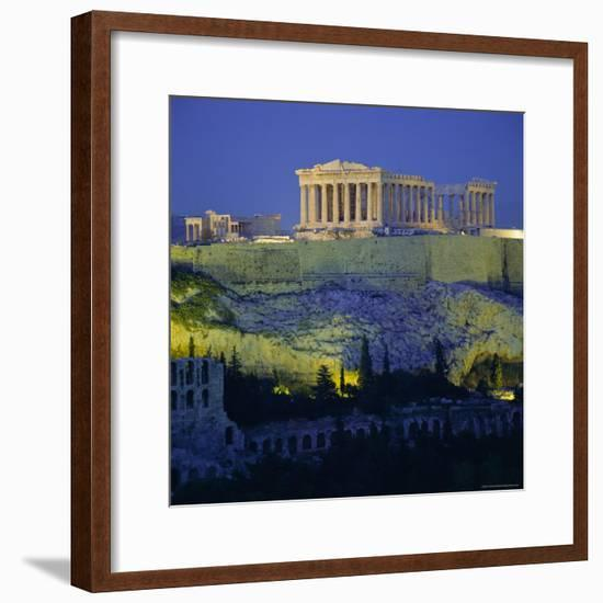 The Parthenon and Acropolis, Unesco World Heritage Site, Athens, Greece, Europe-Tony Gervis-Framed Photographic Print