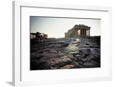 The Parthenon at Sunrise--Framed Giclee Print
