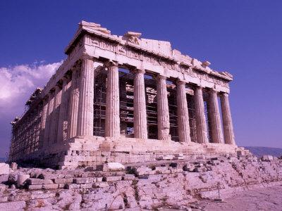 The Parthenon on the Acropolis, Ancient Greek Architecture, Athens, Greece-Bill Bachmann-Photographic Print