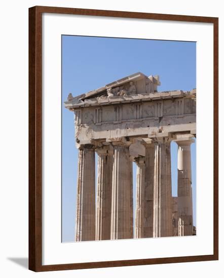 The Parthenon on the Acropolis, UNESCO World Heritage Site, Athens, Greece, Europe-Martin Child-Framed Photographic Print