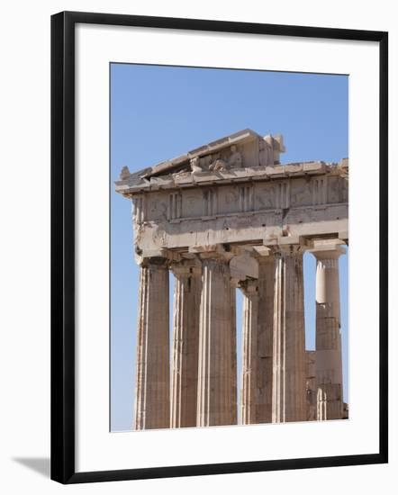 The Parthenon on the Acropolis, UNESCO World Heritage Site, Athens, Greece, Europe-Martin Child-Framed Photographic Print
