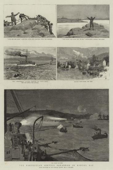 The Particular Service Squadron in Bantry Bay-Frederic Villiers-Giclee Print