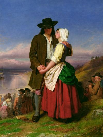 The Parting of Evangeline and Gabriel, C.1870-John Faed-Giclee Print