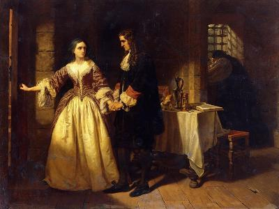 The Parting of Lord William and Lady Rachel Russell in 1683-Charles Lucy-Giclee Print