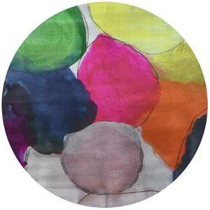 The Party - Circular Silver Canvas Giclee Printed on 2 - Wood Stretcher Wall Art