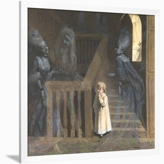 The Party on the Stairs-Adelaide Claxton-Framed Premium Giclee Print