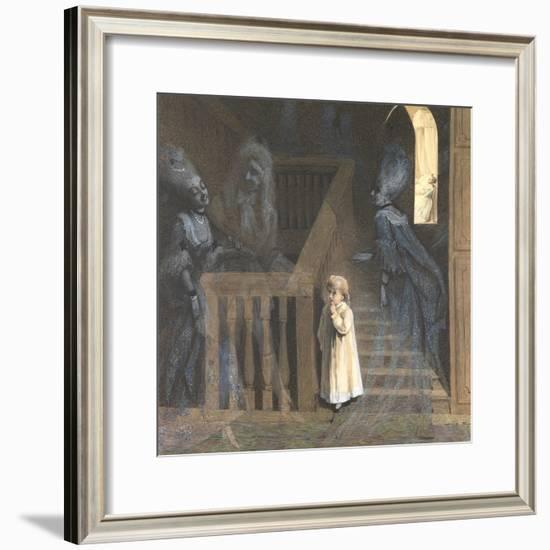 The Party on the Stairs-Adelaide Claxton-Framed Giclee Print
