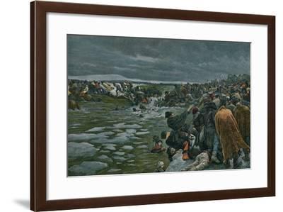 The Passage of the Beresina-Felicien Baron De Myrbach-rheinfeld-Framed Giclee Print