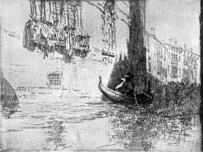 The Passing Gondola, 1926-James McBey-Giclee Print