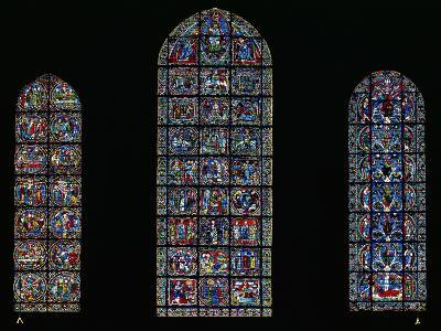 The Passion, the Nativity and the Tree of Jesse, Lancet Windows in the West Facade, 12th Century--Giclee Print
