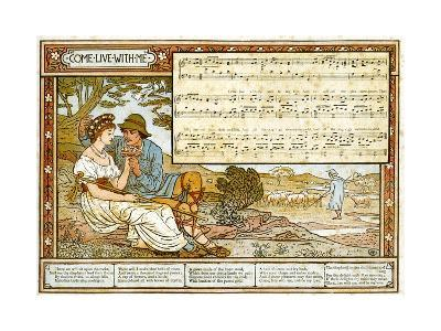 The Passionate Shepherd to His Love', Song Illustration from 'Pan-Pipes', a Book of Old Songs,…-Walter Crane-Giclee Print