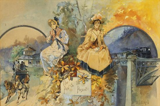 The Past and the Present-Edward Percy Moran-Giclee Print