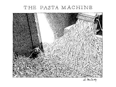 The Pasta Machine - New Yorker Cartoon-Ann McCarthy-Premium Giclee Print