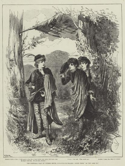 The Pastoral Play at Coombe House, Kingston-On-Thames, Scene from As You Like It--Giclee Print