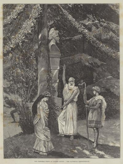 The Pastoral Plays at Coombe House, The Faithfull Shepherdesse-Richard Caton Woodville II-Giclee Print