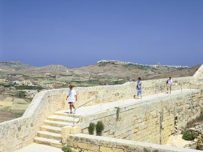 The Path around the Walls of the Citadel, Victoria, Gozo, Malta-Peter Thompson-Photographic Print