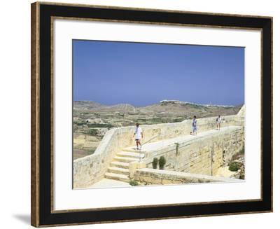 The Path around the Walls of the Citadel, Victoria, Gozo, Malta-Peter Thompson-Framed Photographic Print