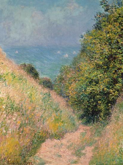 The Path of La Cavée at Pourville, 1882-Claude Monet-Premium Giclee Print