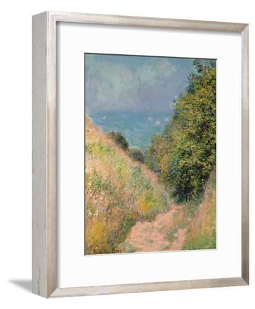 The Path of La Cavée at Pourville, 1882-Claude Monet-Framed Giclee Print