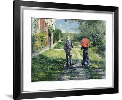 The Path Uphill-Gustave Caillebotte-Framed Giclee Print