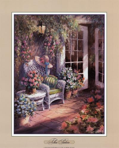 The Patio-George Bjorkland-Art Print
