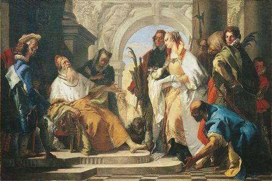 The Patron Saints of the Crotta Family-Giambattista Tiepolo-Giclee Print