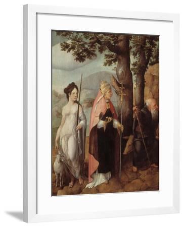 The Patrons of the Van Lokhorst Family, 1526-1527-Jan van Scorel-Framed Giclee Print