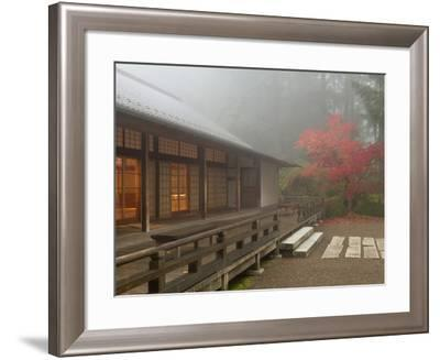 The Pavilion at the Portland Japanese Garden, Oregon, USA-William Sutton-Framed Photographic Print