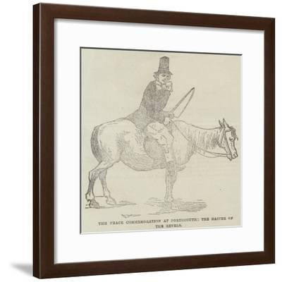 The Peace Commemoration at Portsmouth, the Master of the Revels--Framed Giclee Print