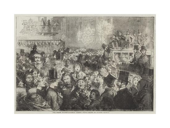 The Peace Illuminations, a Street Scene-George Housman Thomas-Giclee Print