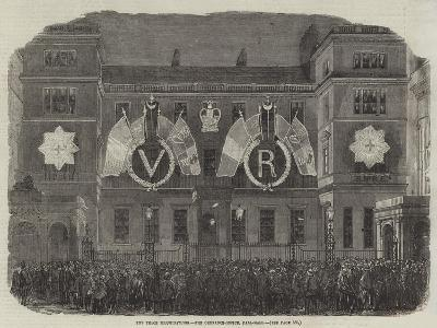 The Peace Illuminations, the Ordnance-Office, Pall-Mall--Giclee Print