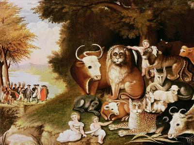 The Peaceable Kingdom, 1832-34 (See also 84503)-Edward Hicks-Giclee Print